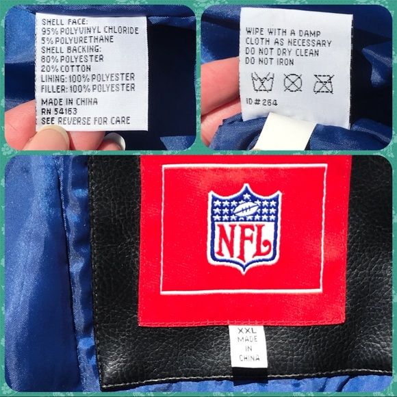 cheap for discount cc4cb f2c45 NFL Black Faux Leather CHARGERS Bomber Jacket XXL